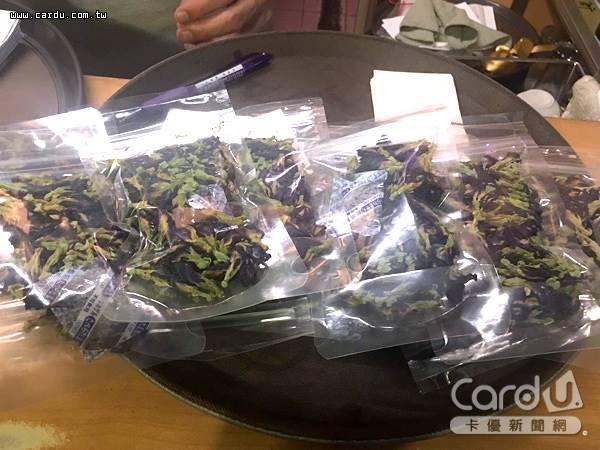被視為時尚又養生的蝶豆花花茶,抽查發現6成驗出農藥殘留,其中1件開罰3萬元(圖/台北市政府 提供)