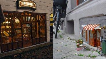 超治癒!瑞典藝術家在街頭為老鼠開設「迷你店舖」,從餐廳、書店到理髮廳一應俱全!