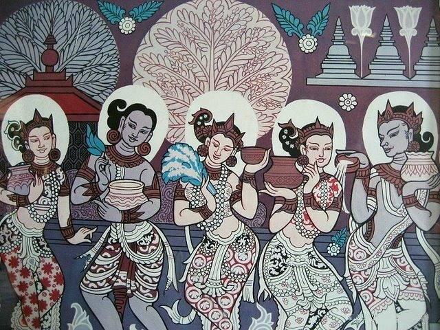 Bagan_era_painting_of_Thingyan