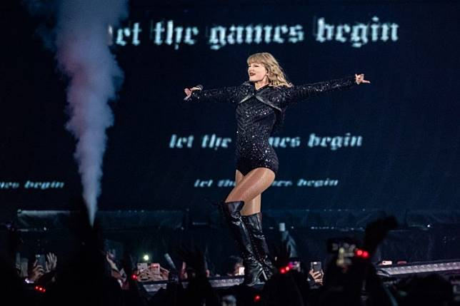 Taylor Swift performs onstage during the Reputation Stadium Tour at NRG Stadium on September 29, 2018 in Houston, Texas.