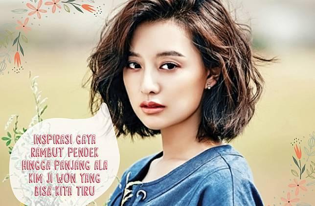 Inspirasi Gaya Rambut Pendek Hingga Panjang ala Kim Ji Won yang ... 87ee2c029f