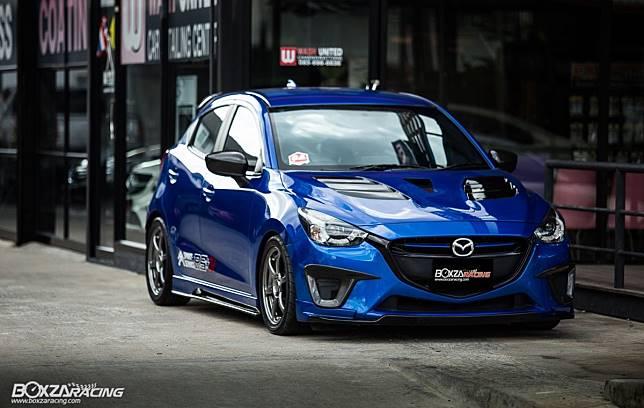 Modifikasi Mazda2 Skyactive dengan tampilan sporti