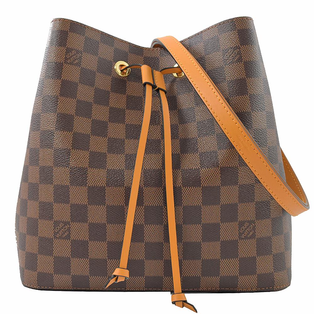 Louis Vuitton LV N40213 Neonoe 棋盤格紋肩斜兩用水桶包.姜黃 現貨