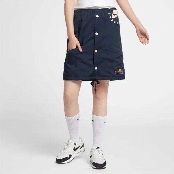 【折後$2290】▶NIKE 女装 春季 新款 時尚 運動 休閒 舒適 短裙 大LOGO 深藍 AR2945-451