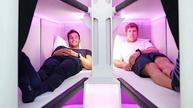 每張床長逾200cm、闊逾58cm,就算係大男人瞓都無問題。(互聯網)