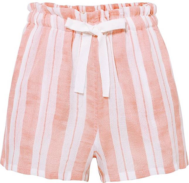 LEMLEM粉紅色條子短褲(互聯網)