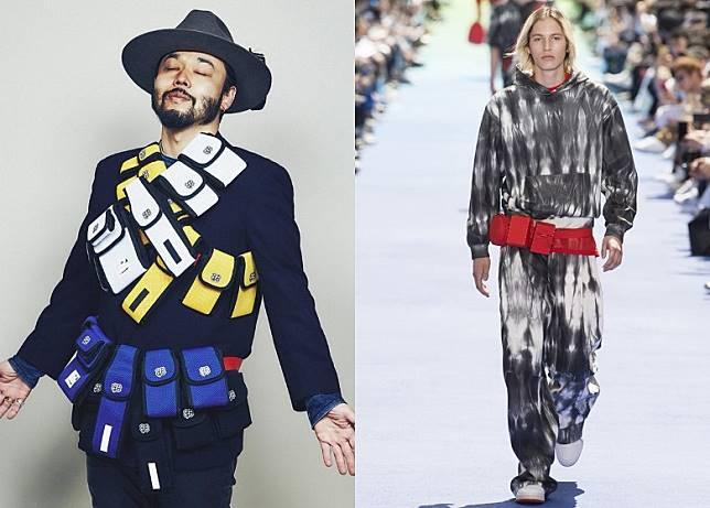 除了從戰術背心演變出Chest Bag之外,可以自由組裝的戰術腰帶亦被重新設計成獨特的Belt Bag,Undercover x Full-BK及Louis Vuitton都有推出相近設計。(互聯網)