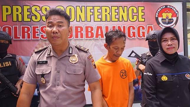 Polisi Purbalingga menetapkan BO sebagai tersangka pencabulan anak. (Liputan6.com/Polres Purbalingga/Muhamad Ridlo)