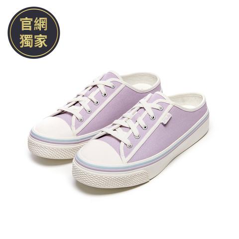 FILA SCANLINE MULE 帆布穆勒鞋-紫 4-C622V-110