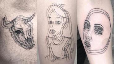微刺青不夠看?「暈刺青」爆紅,2D暈眩立體感成為新刺青主流?