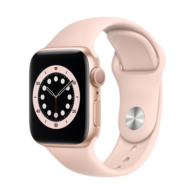 ● GPS ★ 粉沙色運動型錶帶• GPS 錶款能讓你在腕上打電話與回訊息• 使用全新的感測器與 app 測量你的血氧濃度• 手腕放下時,隨顯 Retina 顯示器在室外的亮度提升達 2.5 倍• 與