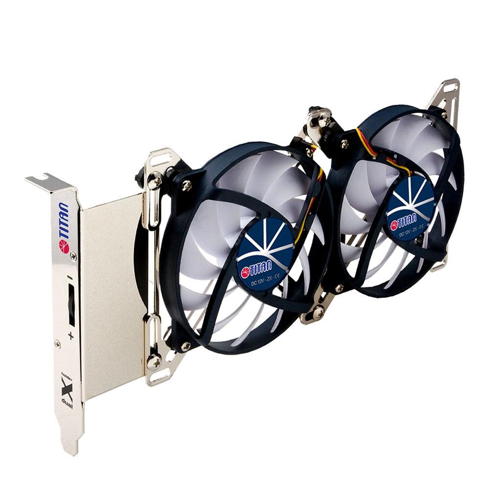 ◆雙風扇設計--強化系統及顯示卡散熱效能 ◆雙X型支架設計--可搭配6-9公分風扇 ◆可調整風扇位置--視需求加強風向導流 ◆簡易安裝--PCI插槽 ◆風扇轉速控制器--自由控制風扇轉速-------