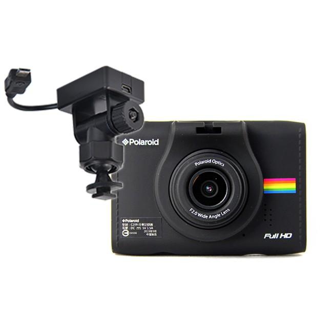 Polaroid 寶麗萊 C209 高畫質行車紀錄器+GC1 專用車架GPS天線【包裝內附16G記憶卡一張】※記憶卡應於1~2個月定期格式化【超級好康】買就送3好禮:1.原廠3M黏貼支架一個2.簡易氣