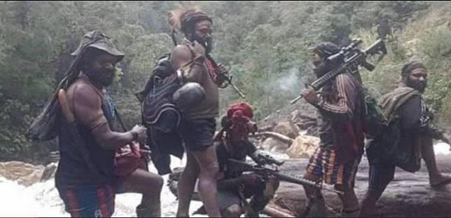 Personel Kelompok Kriminal Bersenjata (KKB) yang beroperasi di Papua.