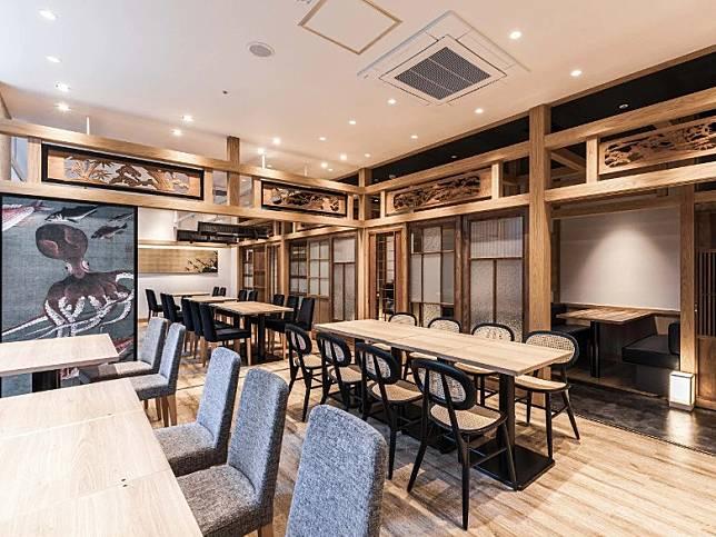 1樓設有餐廳旬魚旬菜新大阪Kiraku,布置摩登。(互聯網)