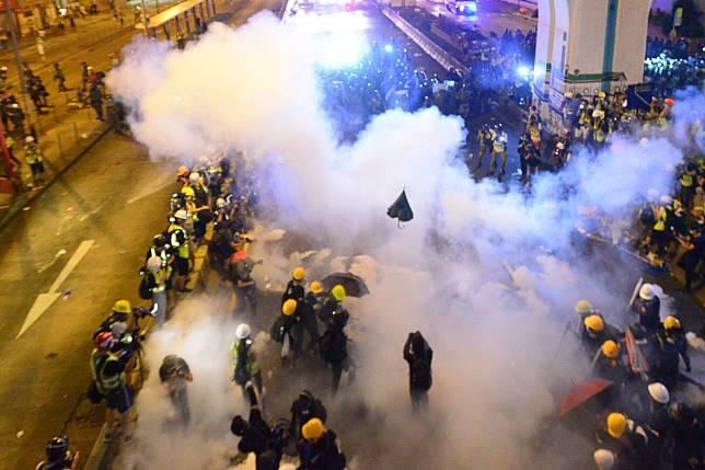警方發放催淚彈