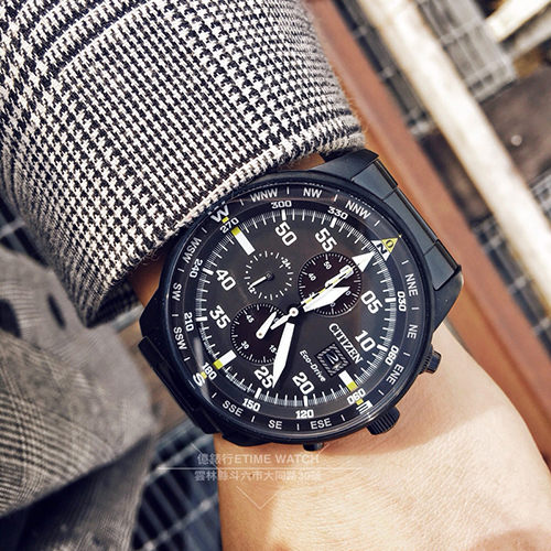 CITIZEN日本星辰ECO-Driver軍事攻略光動能計時腕錶CA0695-84E公司貨