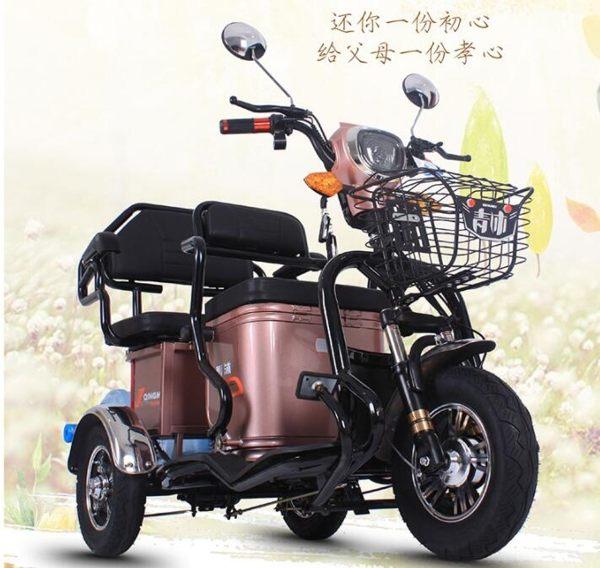 電動車 電動三輪車代步車接送孩子成人家用電瓶車電三輪帶棚小型 雲雨尚品