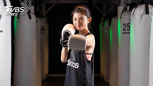 蘇宗怡靠拳擊健身維持好體態。圖/TVBS