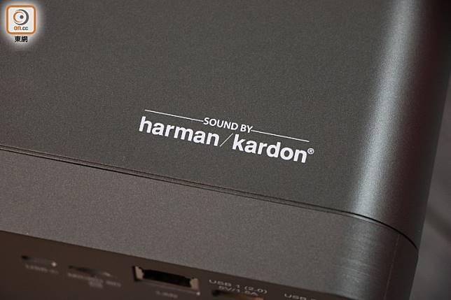 內置有高音質的Harmon Kardon雙喇叭,當作藍牙喇叭用都無問題。(盧展程攝)