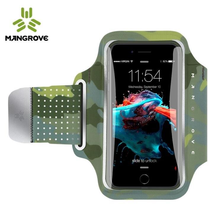 曼哥夫跑步手機臂包可觸屏運動手機臂套手包手機套蘋果8X華為通用