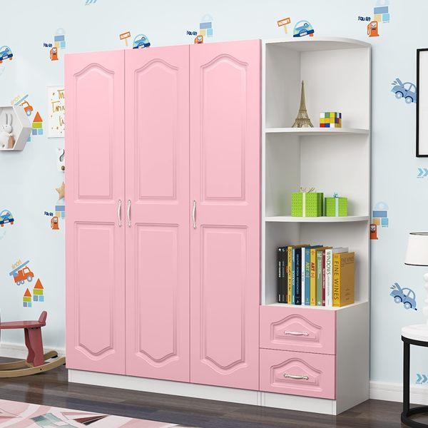 歐式兒童衣櫃現代簡約經濟型免運女孩整體臥室簡易大衣櫥n新品歐式大衣櫃上市啦北歐風情公主房