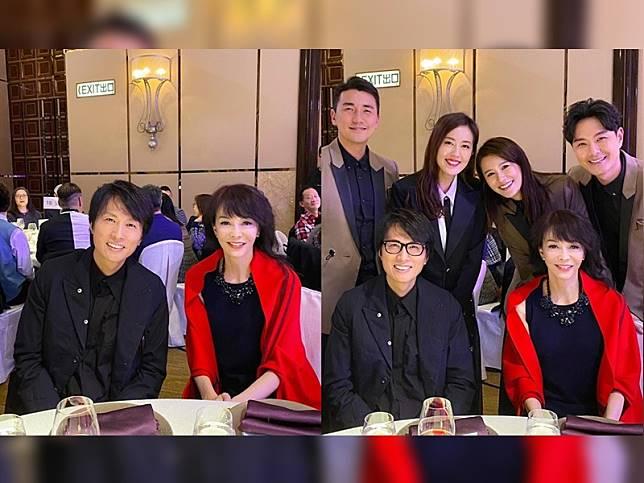 黃子華與Do姐重聚總令觀眾想起《男親女愛》,洪永城、唐詩詠、黃翠如和蕭正男見到都要集郵合照。