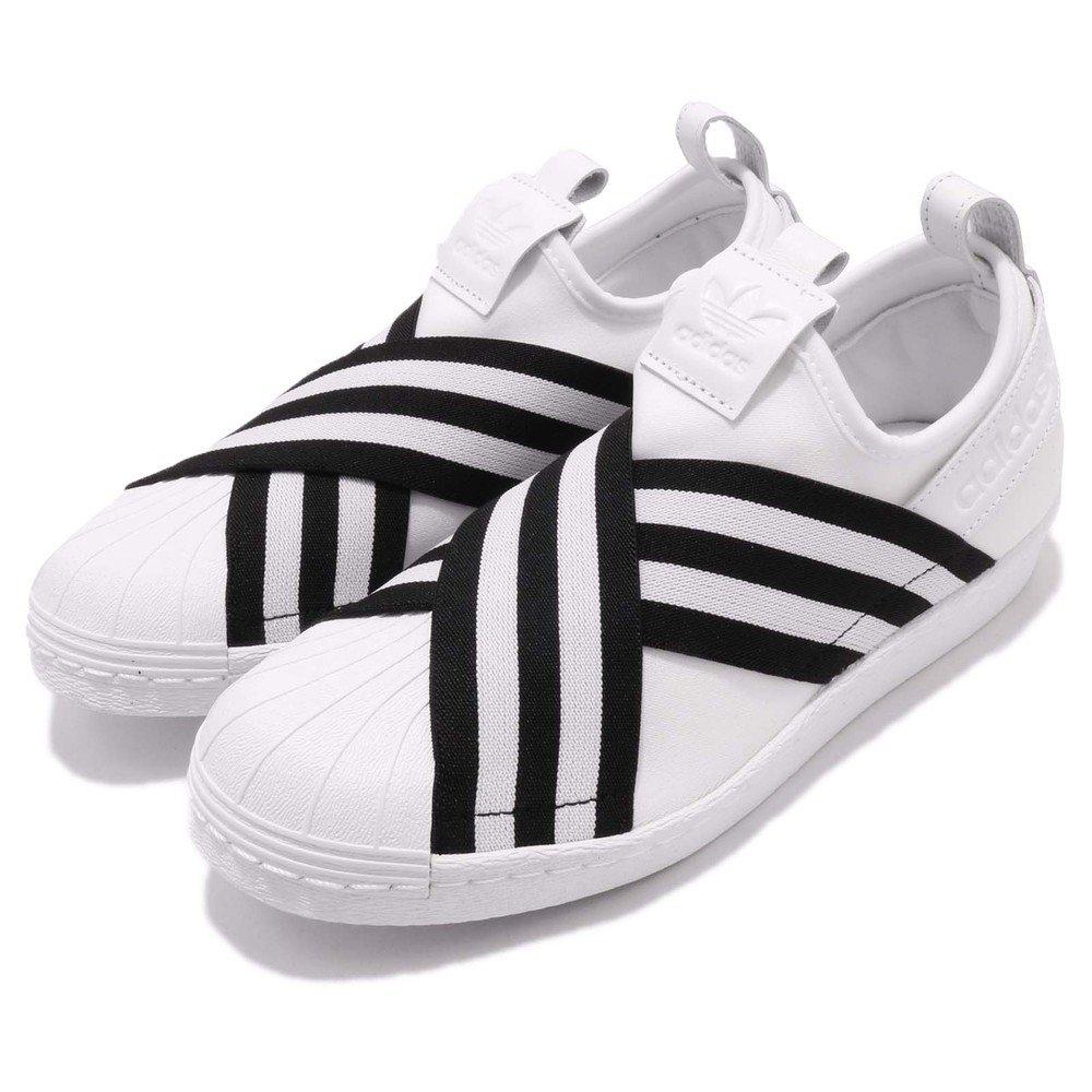 ADIDAS 休閒鞋 Superstar Slipon 女鞋 愛迪達 復古 襪套 繃帶鞋 范冰冰 白 黑 [AC8581]