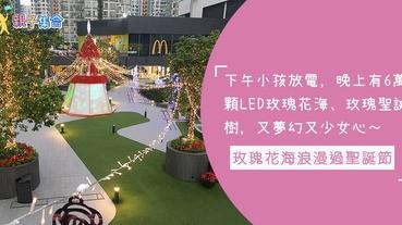 6萬顆LED玫瑰花海、玫瑰聖誕樹,又夢幻又少女心!小孩歷奇公園放電,爸媽在玫瑰花海浪漫