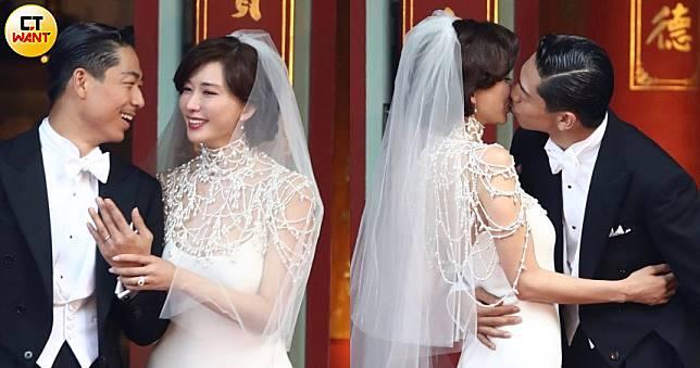 浪漫奢華的珍珠披肩 志玲姐姐台南大婚白紗原來是這牌!