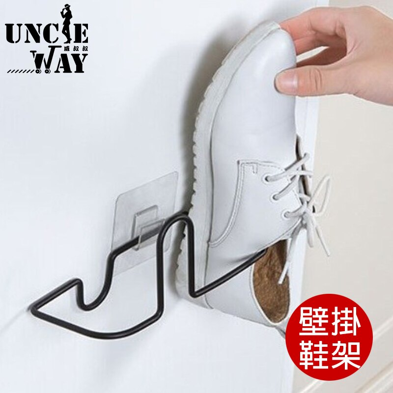 Uncle-Way威叔叔 壁掛鞋架 拖鞋架 鞋架 無痕鞋架 簡約拖鞋架 浴室拖鞋架 收納掛架 懸掛架 【H1157】