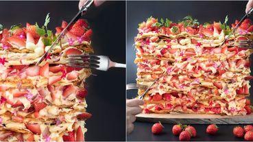 超浮誇「巨無霸法式草莓千層派」!關西神戶《世界NO.1飯店早餐》2020年開賣草莓Buffet~草莓控必朝聖!