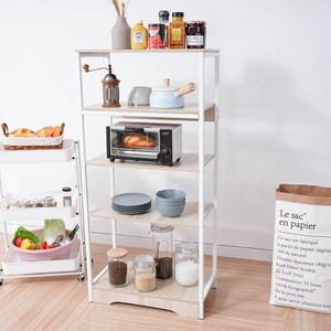 樂嫚妮 廚房多用途收納置物微波爐架-楓櫻木色