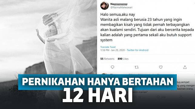Kisah Pilu Pernikahan di Malang Hanya Bertahan 12 Hari