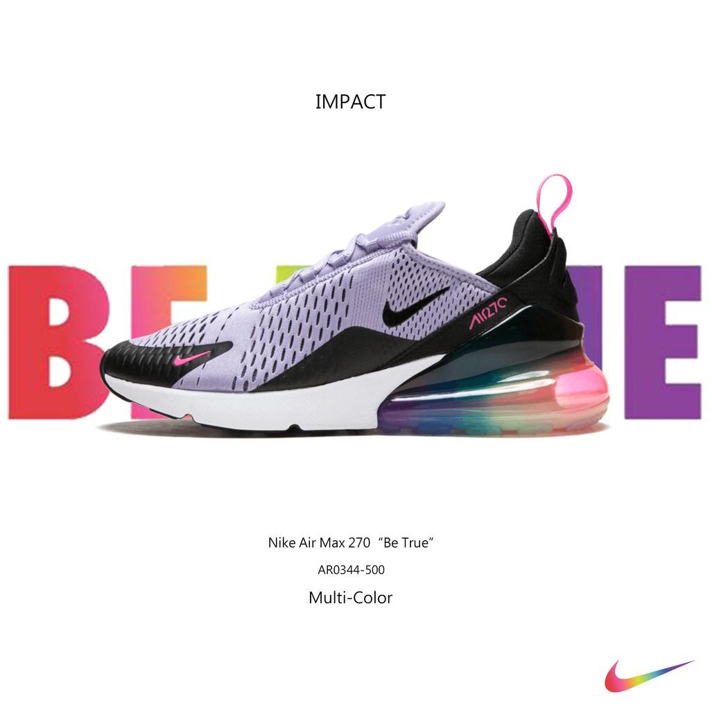 今年 Nike 以三個元素來詮釋 BETRUE 主題,除了一貫性的彩虹用色之外,紫色象徵同性戀者的精神,粉色三角形則為納粹時期標記男同性戀囚犯的符號,並且於 1987 年時成為 ACT UP(愛滋病解
