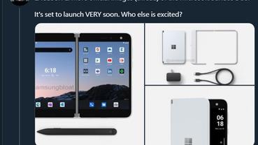 Microsoft Surface Duo 雙螢幕手機價格與配件渲染圖現身,預計從 1,400 美金起