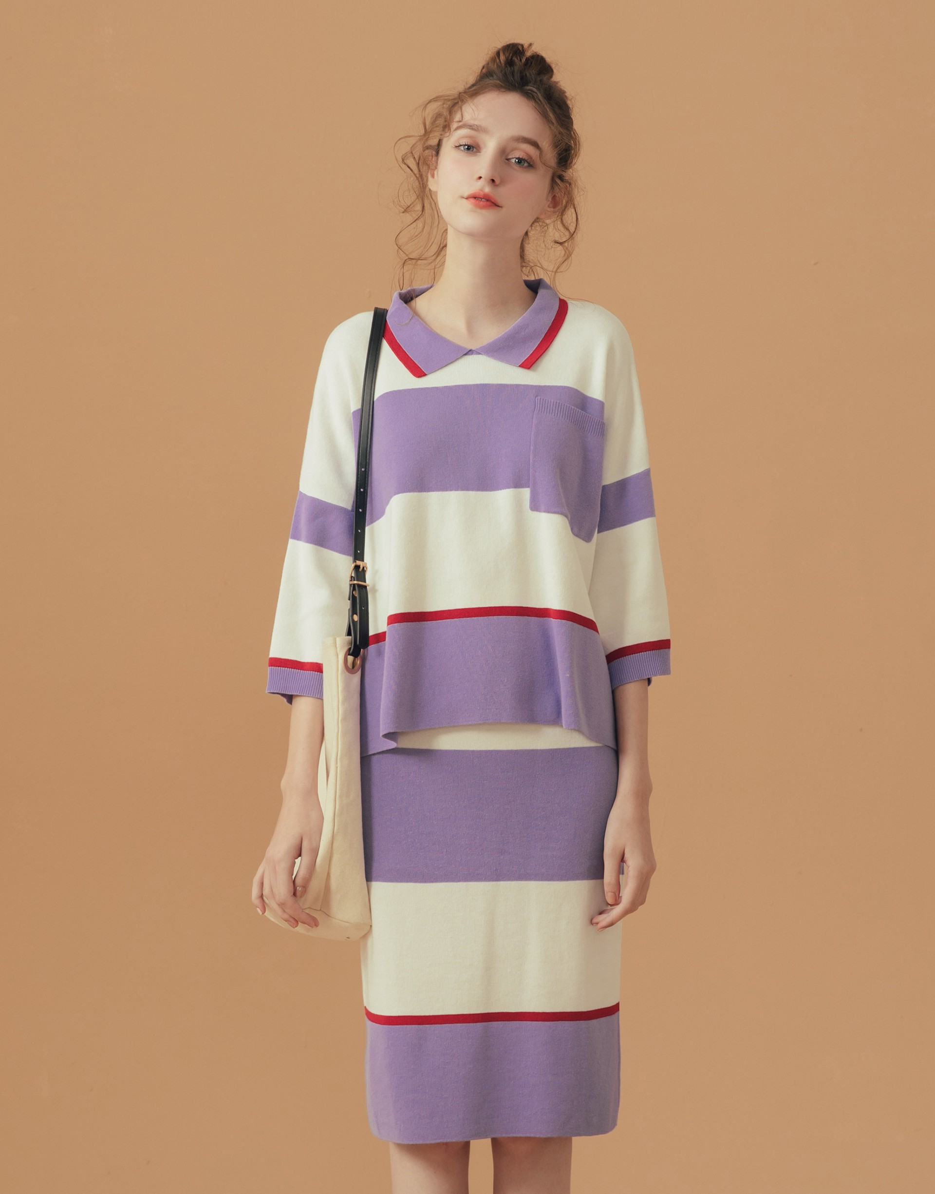PAZZO+針織配色運動套裝