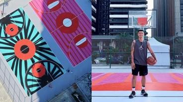 淡水新地標?CDG 「大眼愛心」插畫家 Filip Pagowski 打造超美籃球場就在台灣!