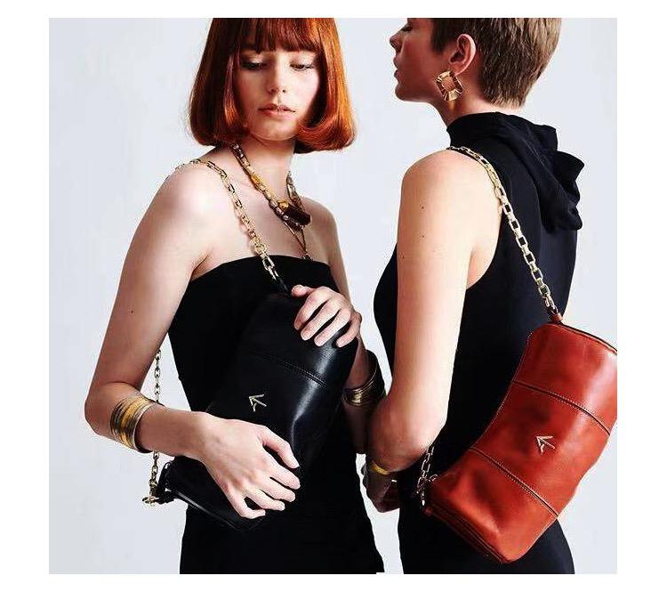 savi同款Manu Atelier Cylinder圓筒鏈條包箭頭單肩包女包
