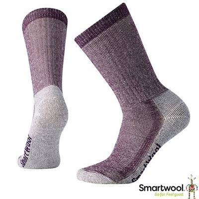 【美國 SmartWool】美麗諾羊毛 中高筒健行厚羊毛襪(2入)_黑醋栗紫