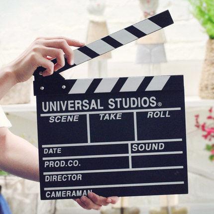 導演板 北歐風文藝拍照攝影陳列道具創意電影拍板場記板導演板裝飾品擺件 2色