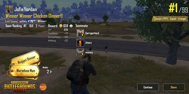 Asal Muasal 'Winner Winner Chicken Dinner' di Game PUBG