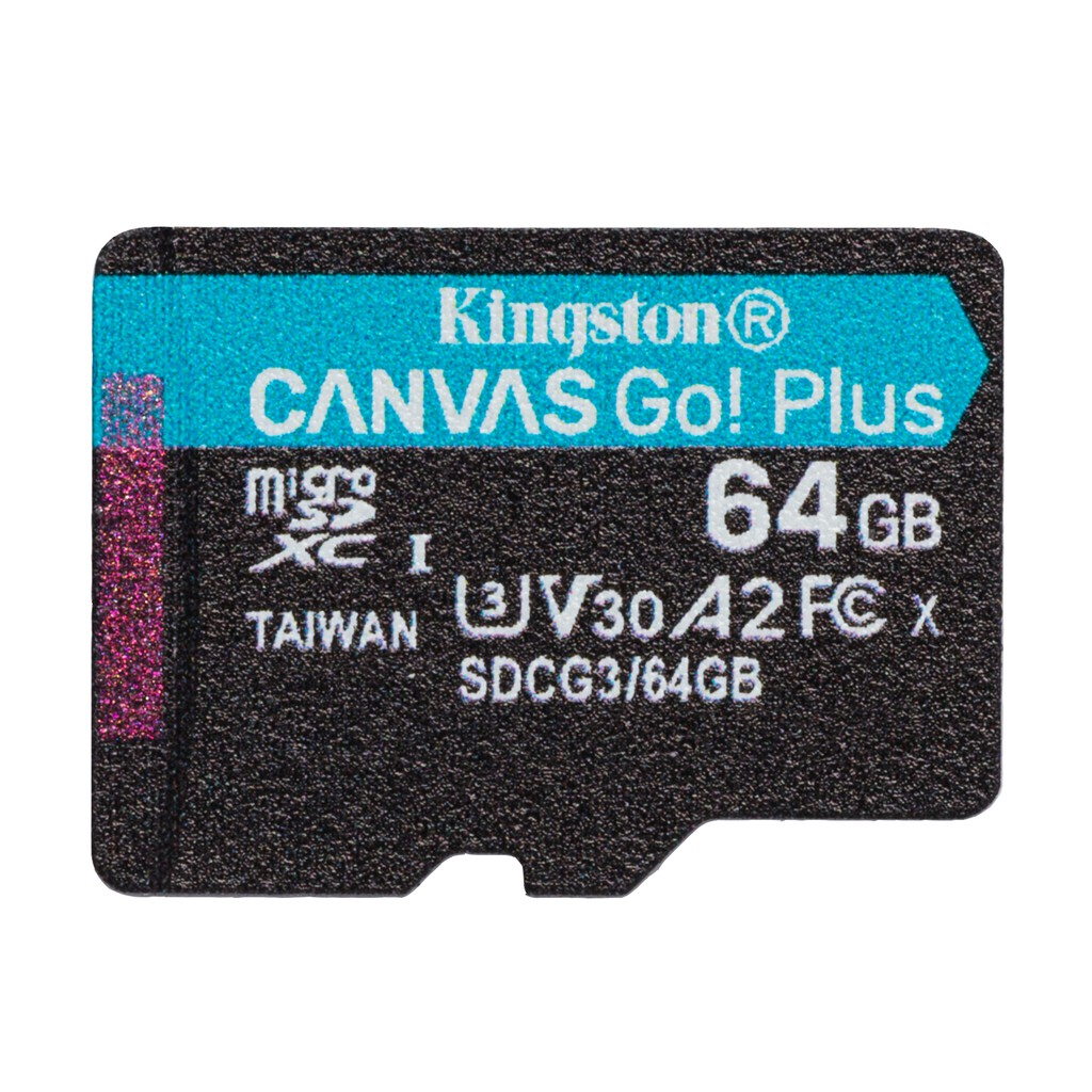【讀寫升級】金士頓 Kingston 128G 64G MicroSD U3 V30 記憶卡 讀170寫90 SDCG3Canvas Go!Plus microSD 記憶卡適用於 Android 行動