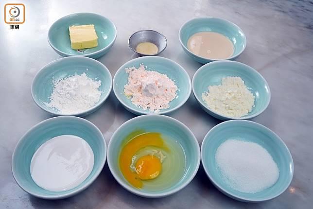 材料分為糯米皮及奶黃餡兩類。(方偉堅攝)