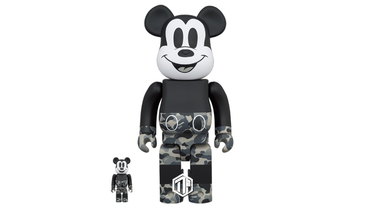 A BATHING APE x Medicom Toy 推出米奇BE@RBRICK 玩偶!