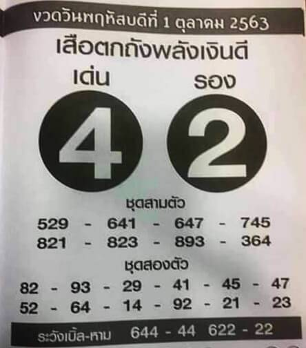 รวม เลขเด็ด งวด 01/10/20 แห่ ซื้อหวย นาทีสุดท้าย ก่อนเลขออก | Thaihuay | https://tookhuay.com/ เว็บ หวยออนไลน์ ที่ดีที่สุด หวยหุ้น หวยฮานอย หวยลาว