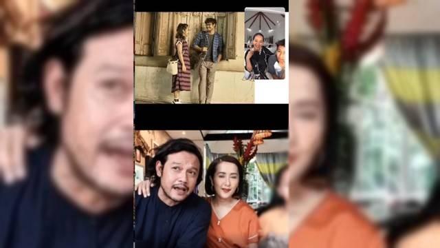 Beberapa Hari Sebelum ditangkap polisi, Dwi Sasono  dan Widi Mulia Live Instagram Bareng Sophie Navita