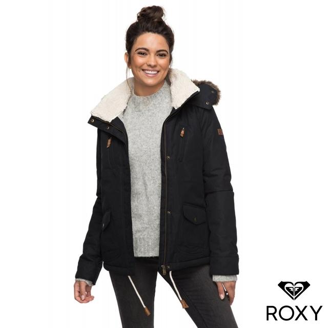 ˙快乾防水: 搭載5K ROXY DryFlight 科技,H2O耐水壓和24hrs的透氣性,優級抗水性,即使在艱困的環境條件底下,仍可維持衣內乾爽˙Thinsulate Type KK 科技保溫層 [填充重量: 衣身100g , 袖子60g]˙保暖刷毛內裡˙加上溫暖Sherpa 絨毛的溫暖連帽,搭配可拆式人造皮草˙兩側大容量口袋特殊開口設計,使用更便利