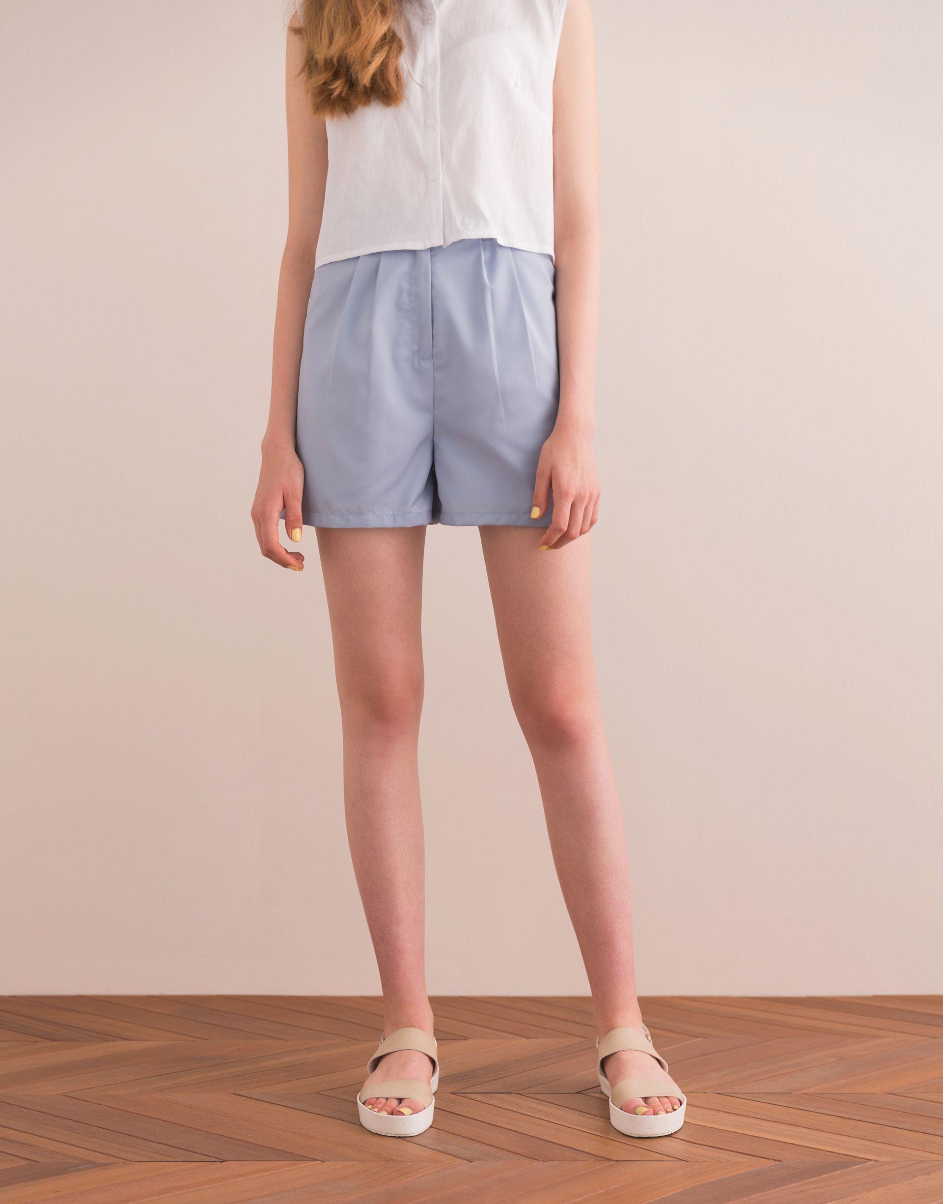PAZZO+韓系休閒舒適西裝短褲