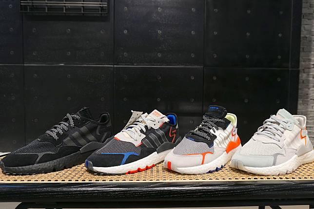 男生鞋款低調得來有鮮豔顏色作highlight。